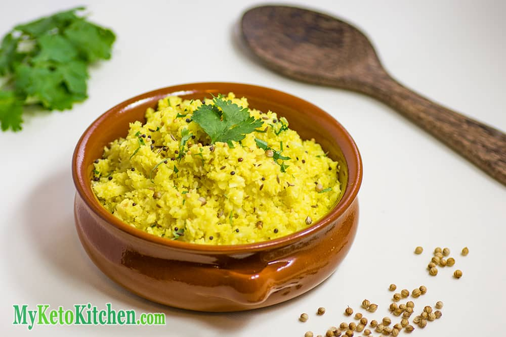 Fragrant Low Carb Indian Cauliflower Rice