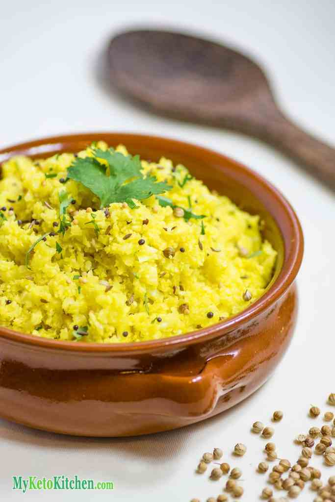 Bowl of Low Carb Indian Cauliflower Rice
