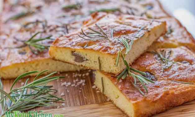 Low Carb Rosemary & Olive Focaccia Bread