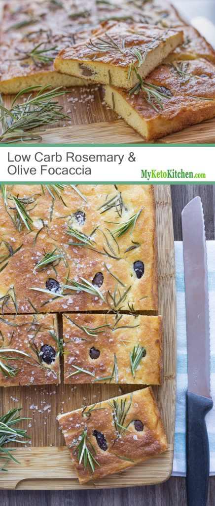 Low Carb Rosemary & Olive Focaccia Bread [Gluten Free, Keto, Grain Free]