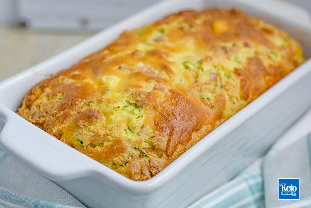 Keto Zucchini Bread Recipe Low Carb Bacon Cheese Loaf