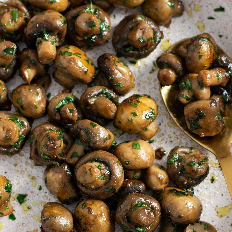 Ketogarlic Butter Mushrooms