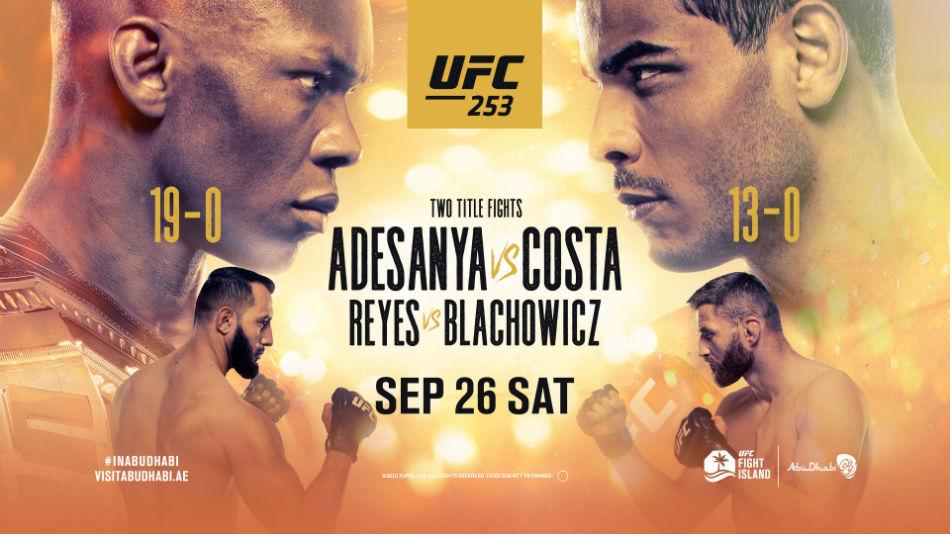 ufc 253 adesanya vs costa fight card