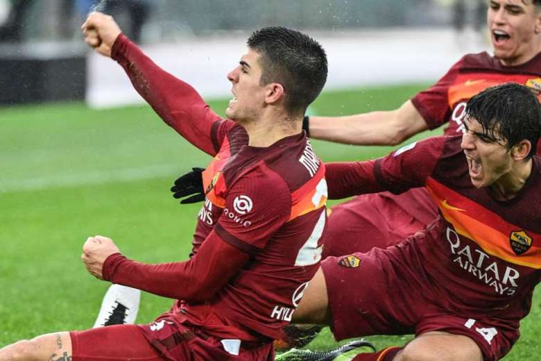 Roma 2-2 Inter: Late Mancini header denies Nerazzurri