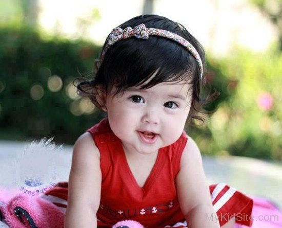 Cute Chinese Babies Wallpapers Baby Wearing Red Dress