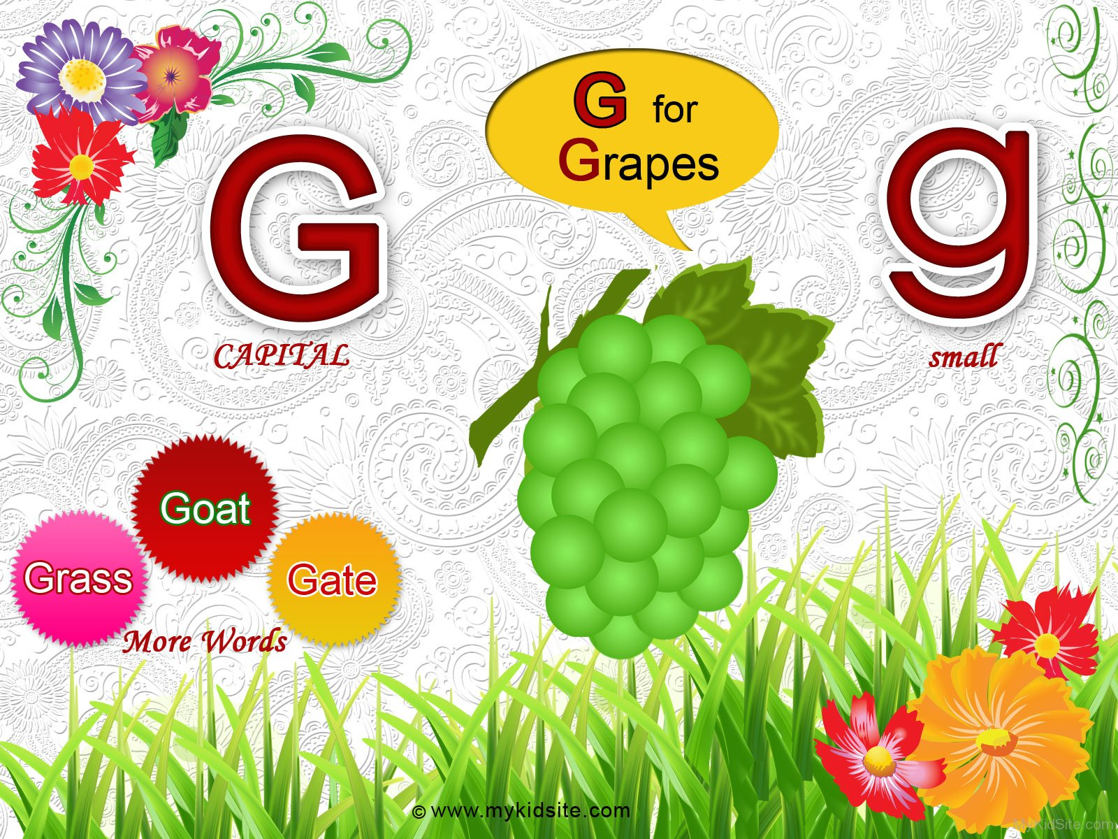 Alphabet Worksheet For Letter G