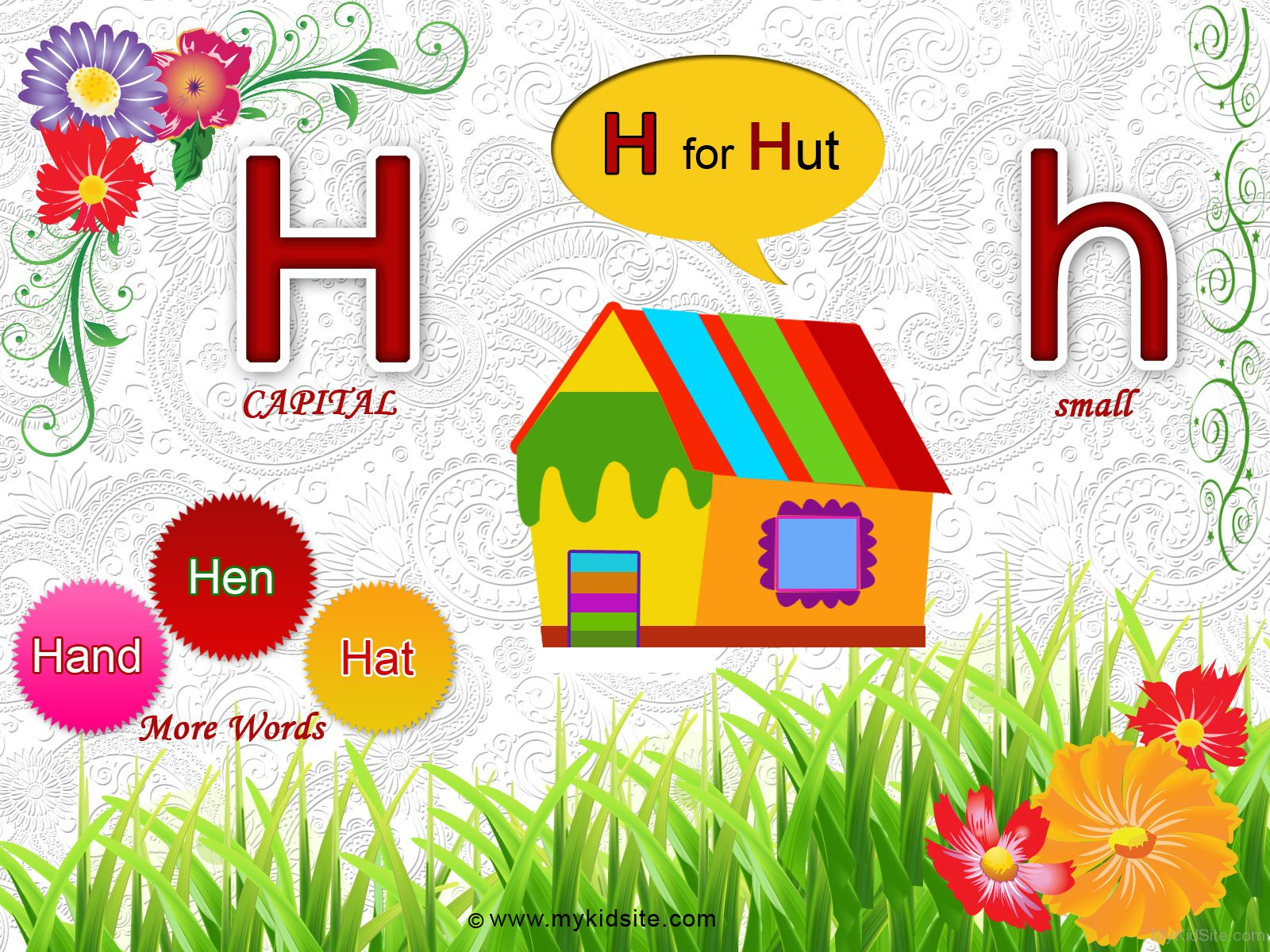 Alphabet Worksheet For Letter H