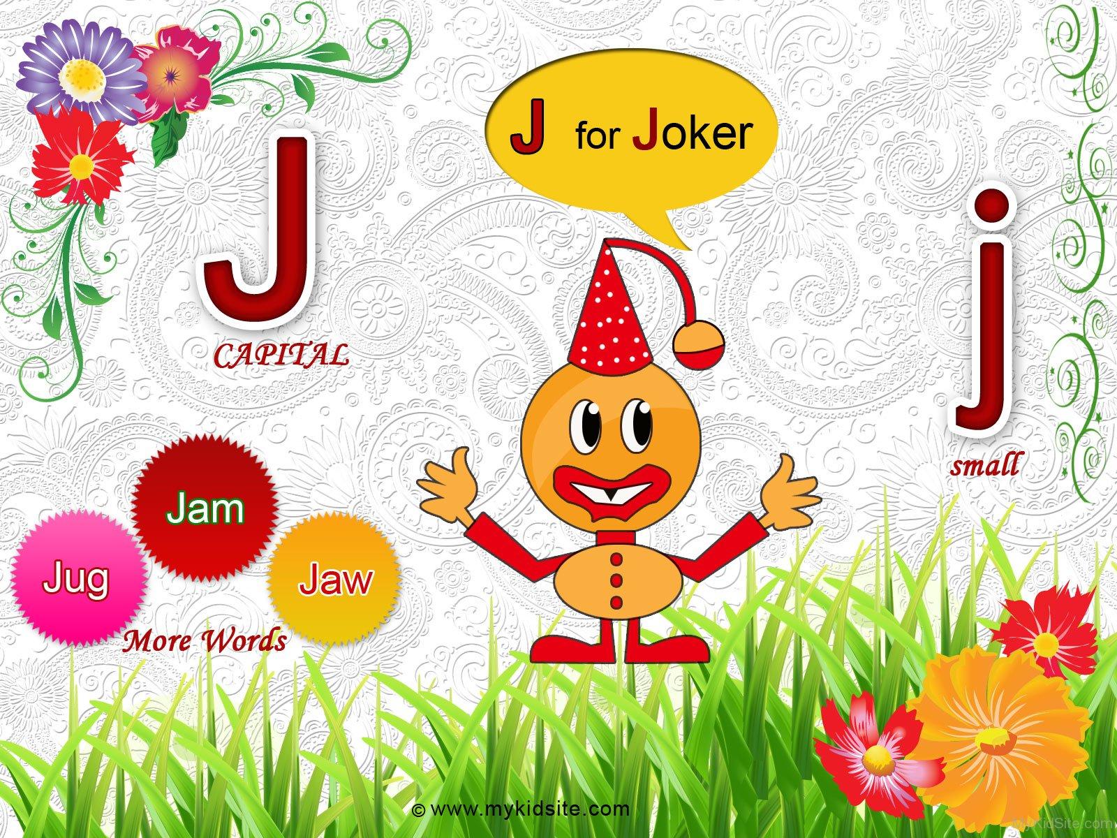 Alphabet Worksheet For Letter J