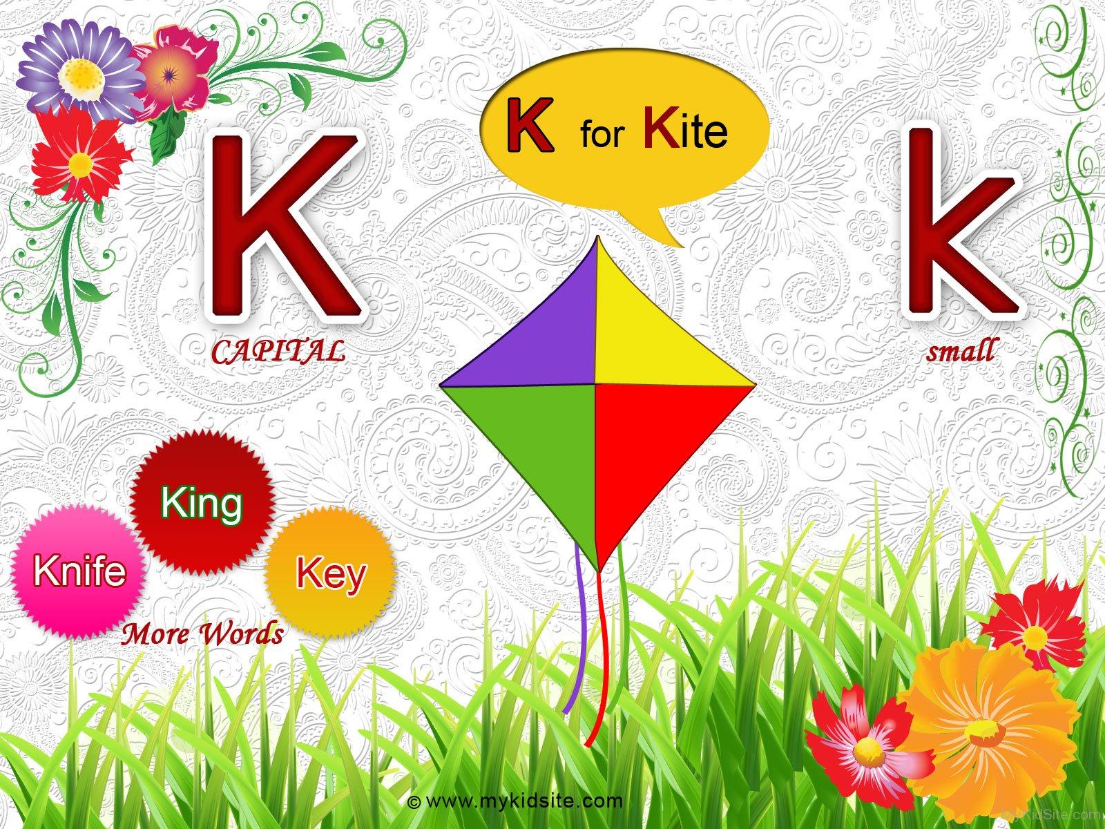 Alphabet Worksheet For Letter K