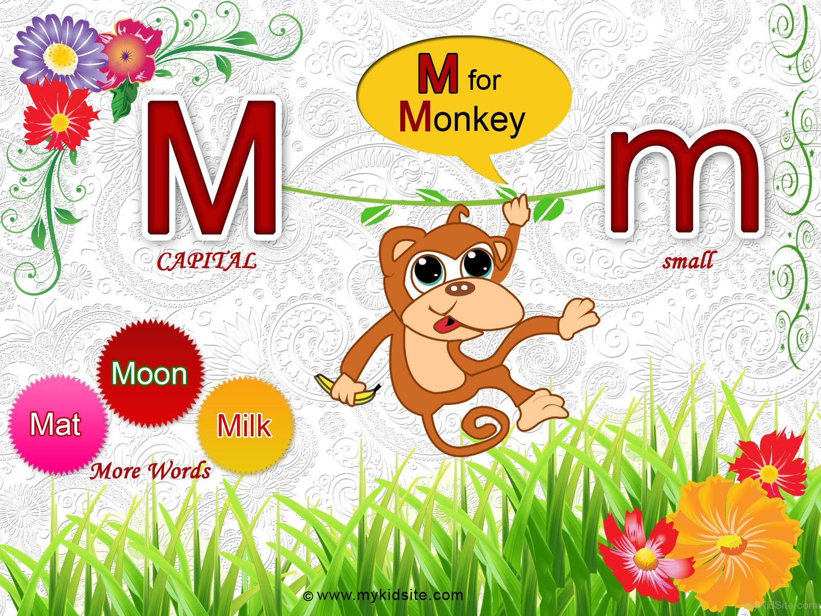 Alphabet Worksheet For Letter M