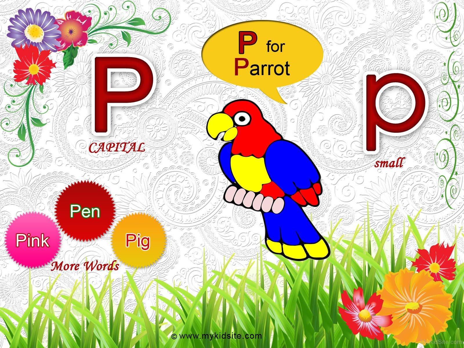 Alphabet Worksheet For Letter P