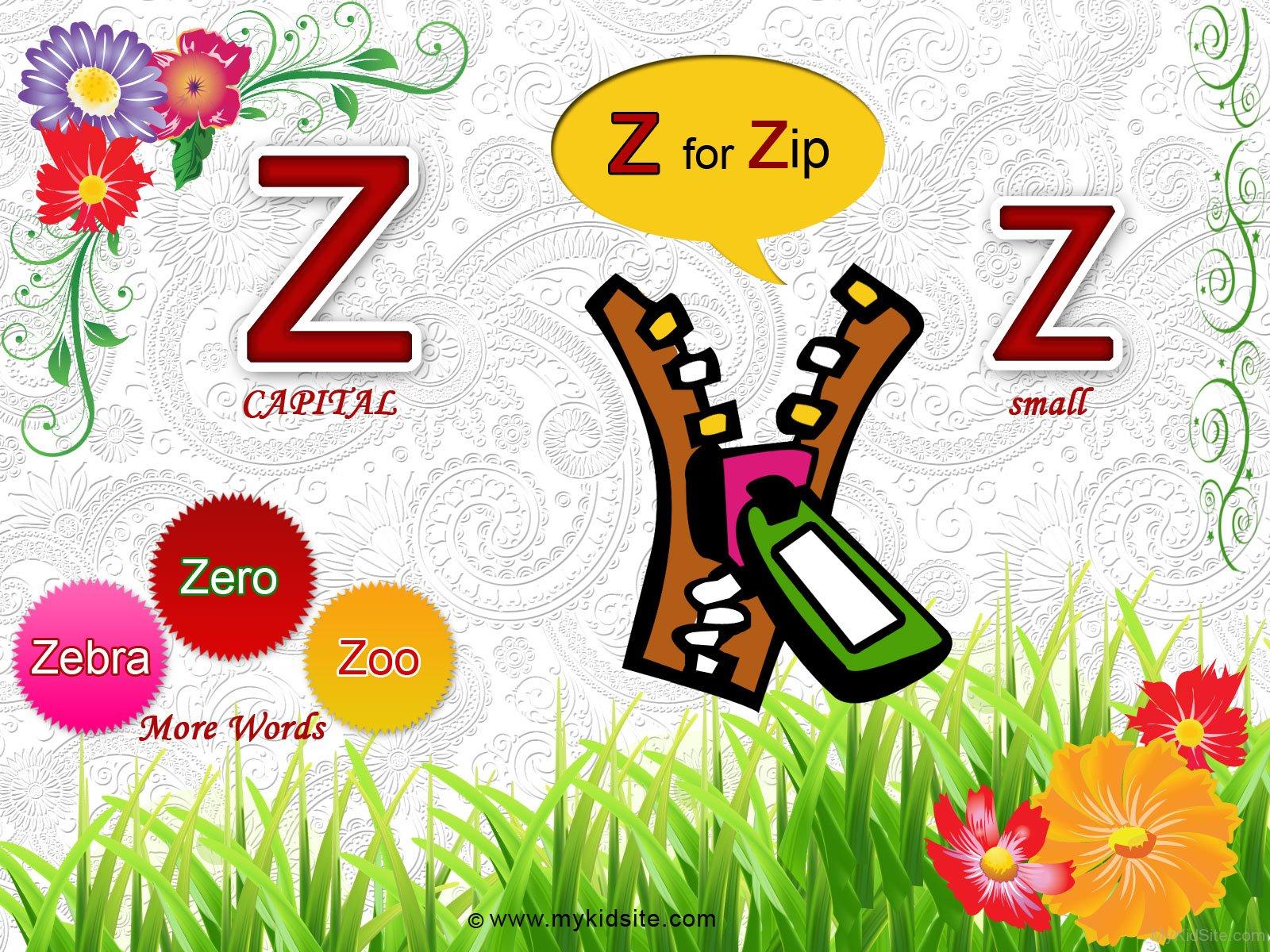 Alphabet Worksheet For Letter Z