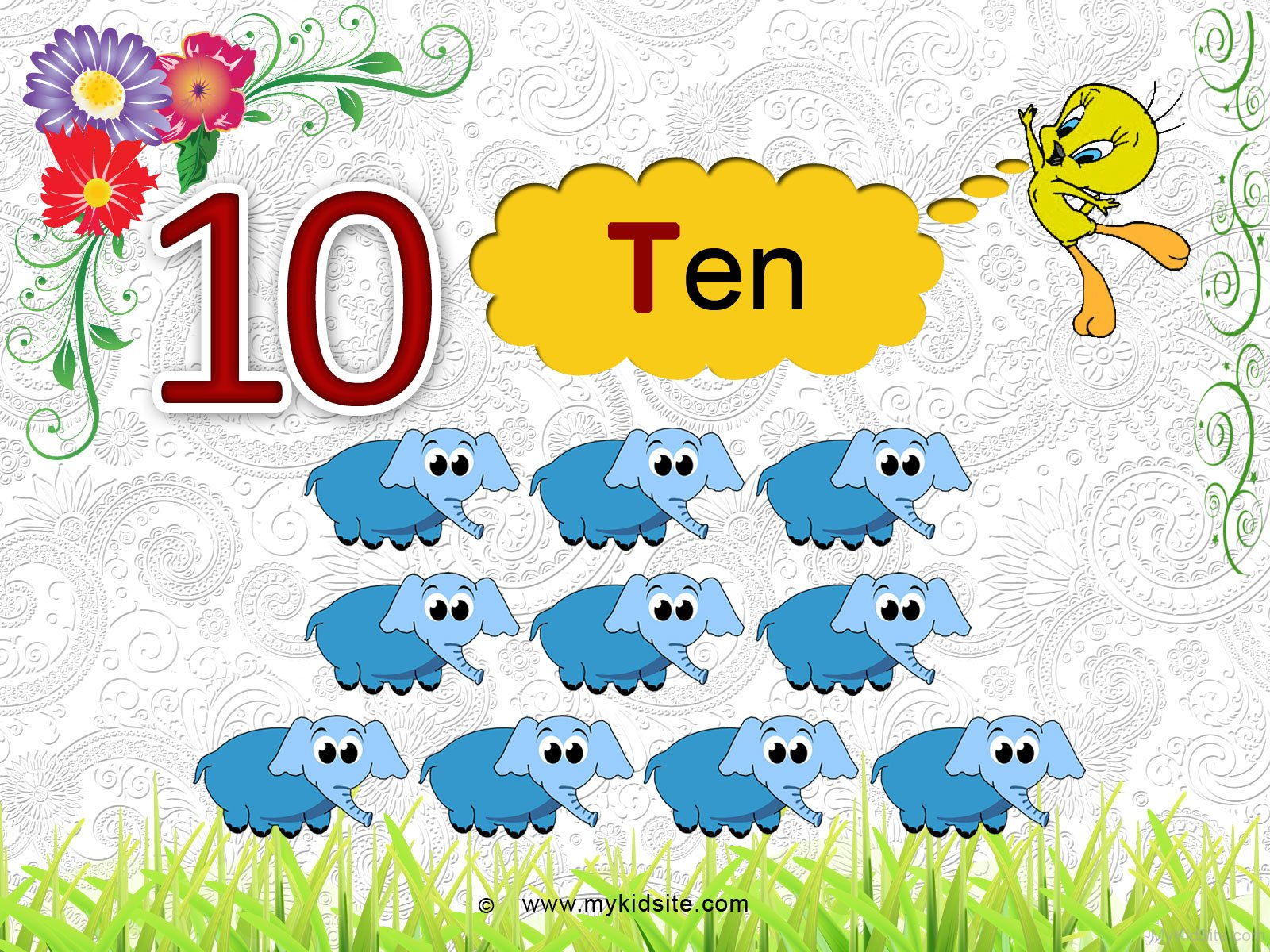 Number Worksheet For 10