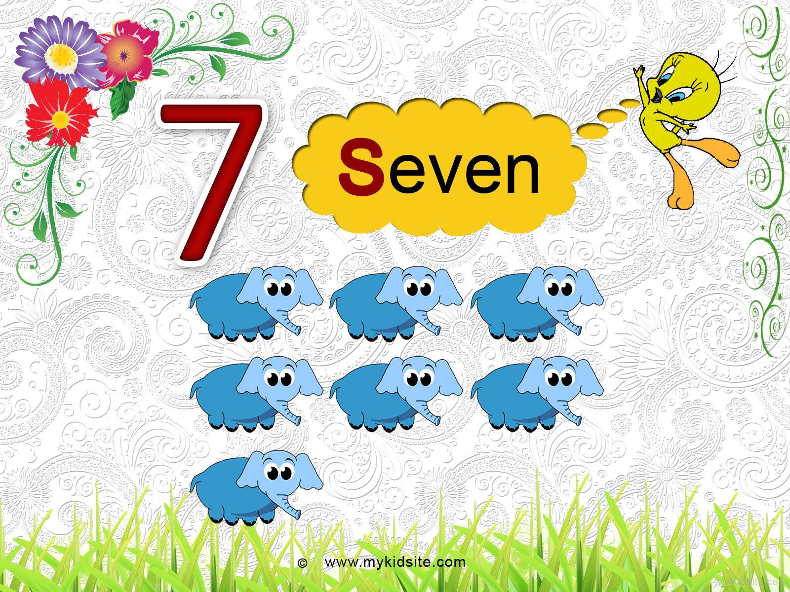 Number Worksheet For 7