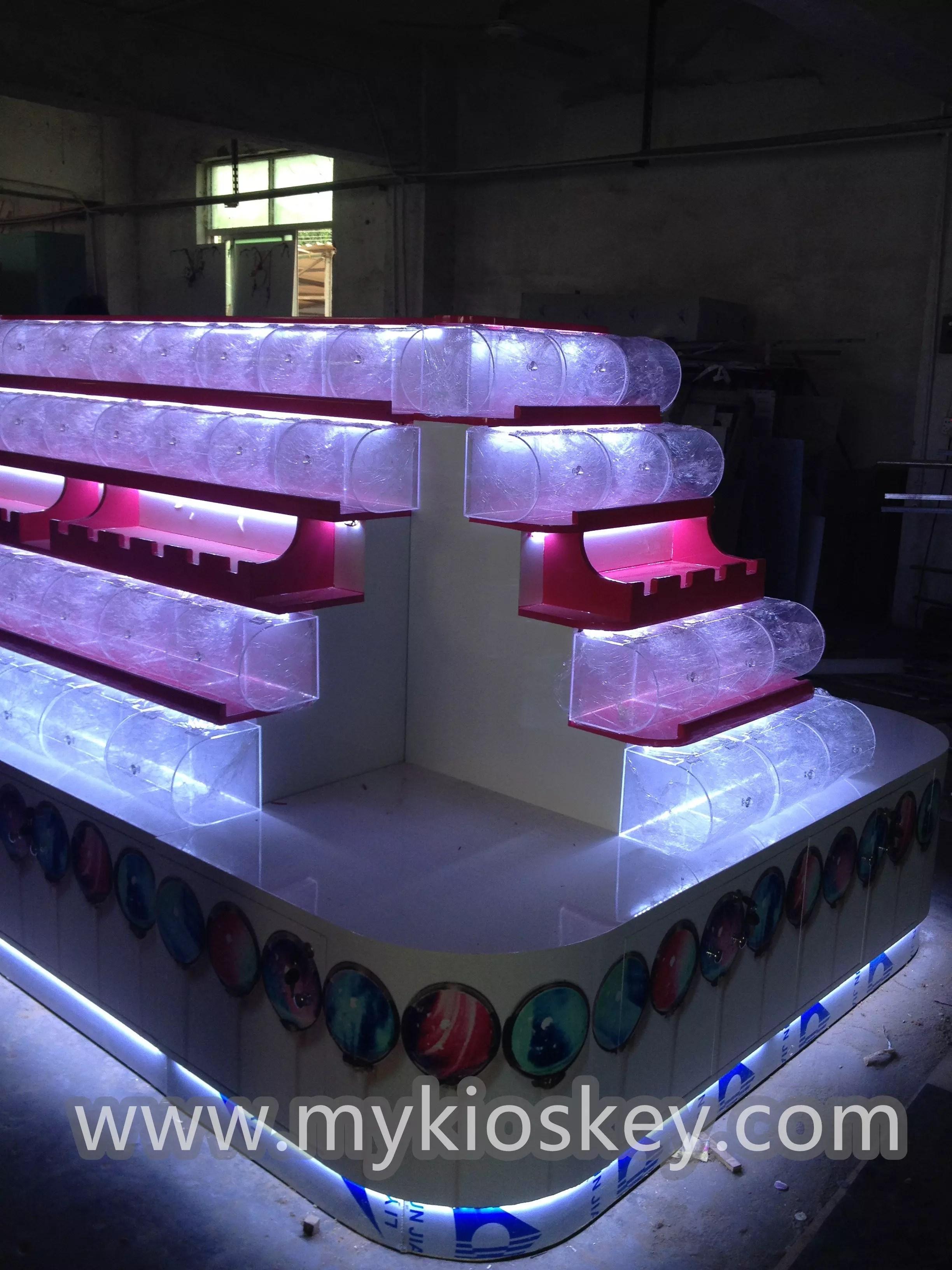 Beauty customized candy kiosk design for sale