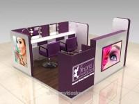 Mall wood beauty nail bar kiosk design for manicure