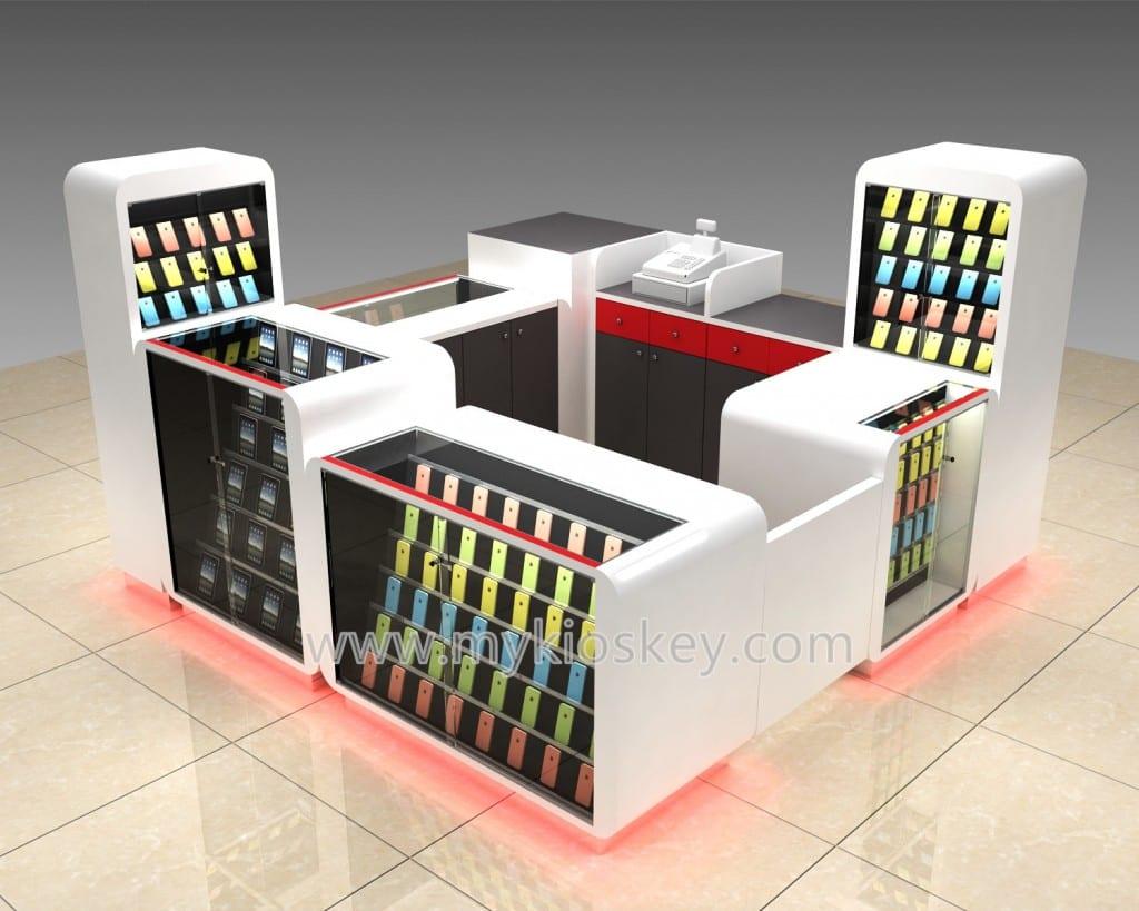 Dr Ring smart mobile phone kiosk design in super mall