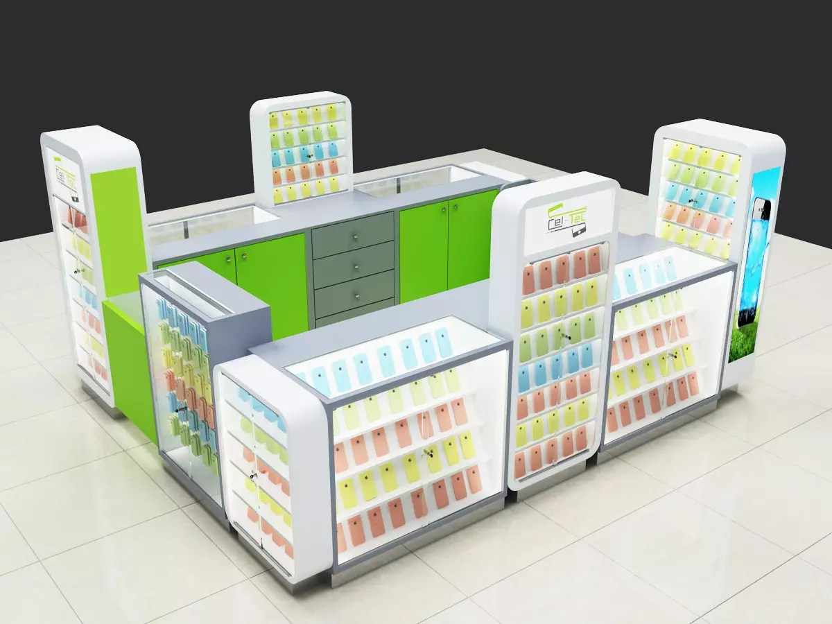 Mall Cell Phone Accessories Mobile Phone Display Kiosk