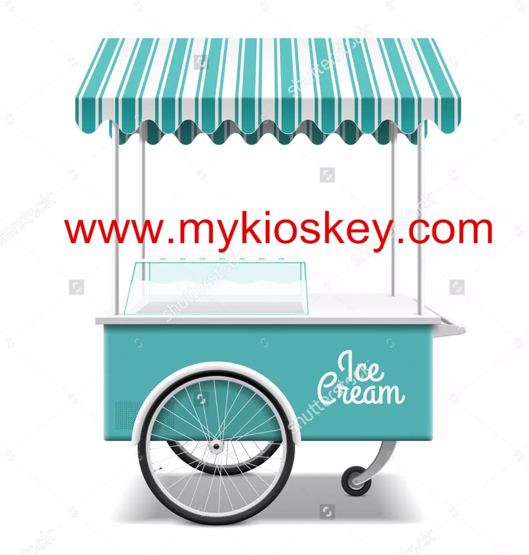 Mobile Ice Cream Cart for Sale Street Mexican Ice Cream