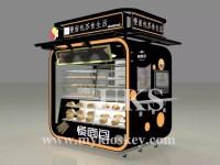 Outdoor food station bakery cupcake kiosk