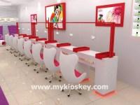 Modern beauty nail shop interior design nail salon furniture