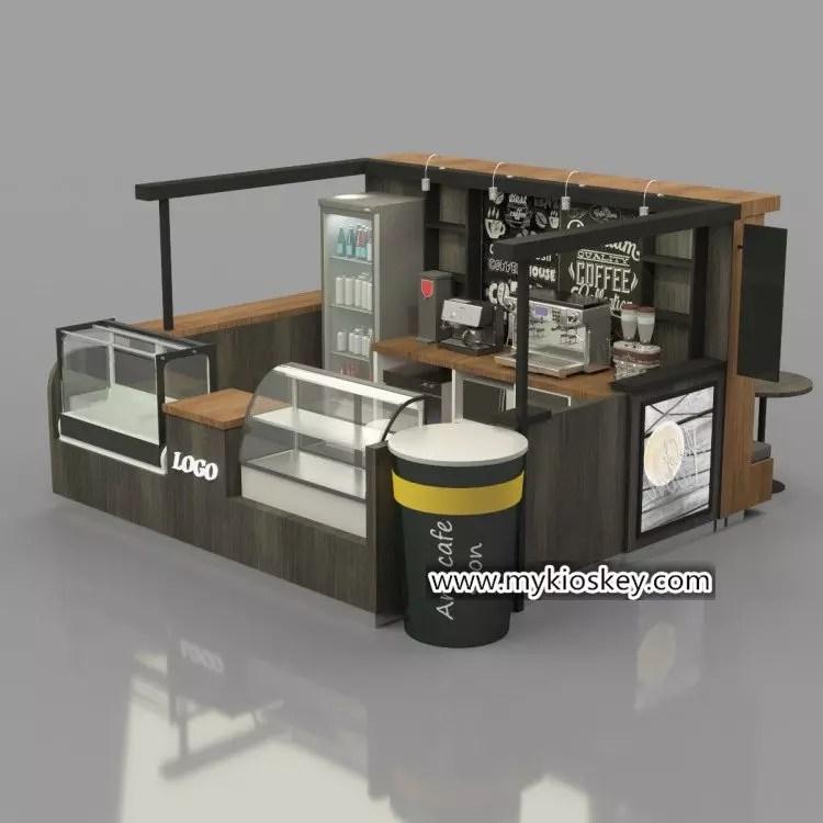 custom 43m rustic grey Sartre coffee kiosk design for mall