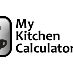 Kitchen Calculator Granite Countertops Pictures And Recipe Converter Tools For Cooking Baking Mykitchencalculator Com