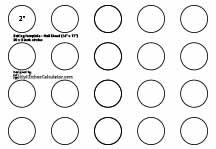 Half sheet baking templates by MyKitchenCalculator.com