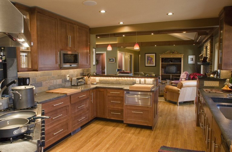 building your own kitchen cabinets work station finding the best paint colors with oak ...