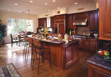 Cherry Kitchen Cabinets With Wood Floors