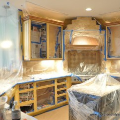 Repainting Kitchen Cabinets Leather Chairs Spray Painting Cabinet To Give New Face The ...