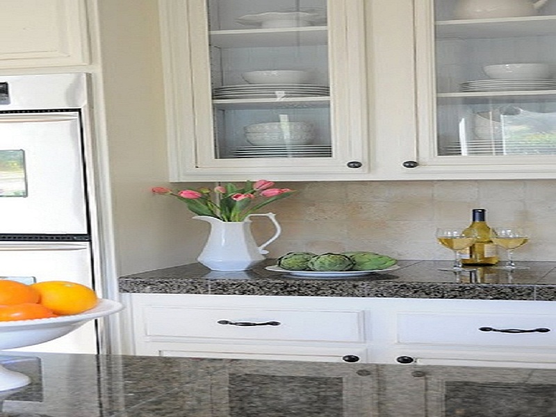 Modern White Kitchen Cabinets With Glass Doors My