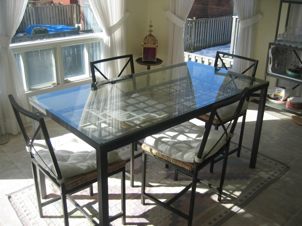 glass kitchen tables window valance interesting table ideas as combination of