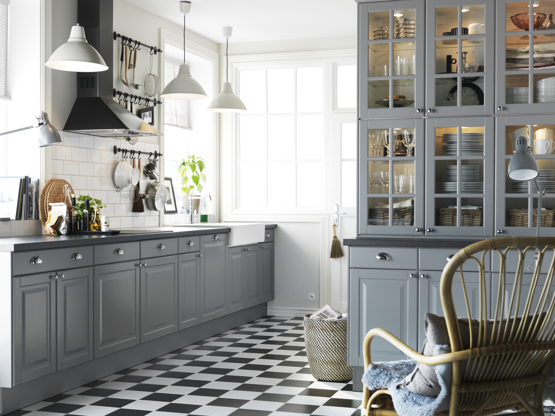 Astonishing Grey Kitchen Cabinets The Futuristic Color  MYKITCHENINTERIOR