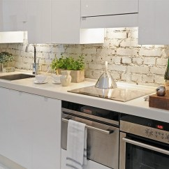 Brick Backsplash In Kitchen Breakfast Nooks For Small Kitchens Elegant The Presented With