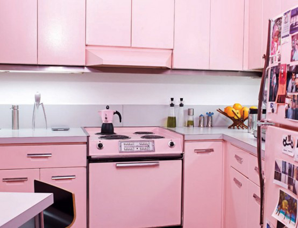 pink countertops kitchen 3 piece faucet decorating ideas in elegant style