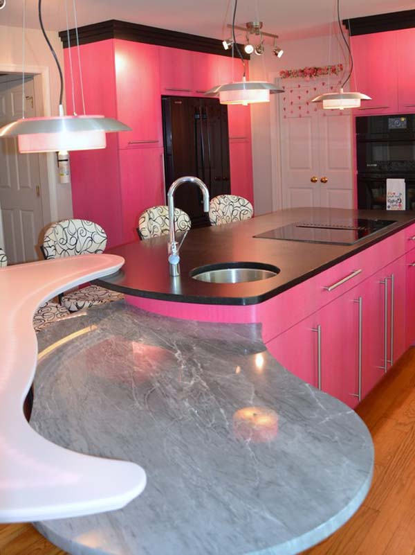 Pink Kitchen Decorating Ideas In Elegant Style