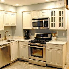 Small Kitchen White Cabinets Wall Clock Glamorous Remodel Ideas With Molded