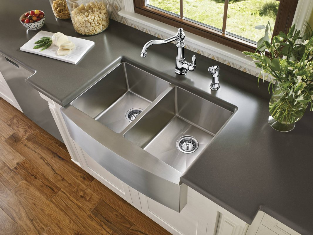 flat front kitchen cabinets pull out shelves for nostalgic faucets farmhouse style to give your ...