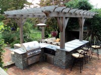 Delicate Outdoor Kitchen Roof Ideas to Set Cozy Backyard ...