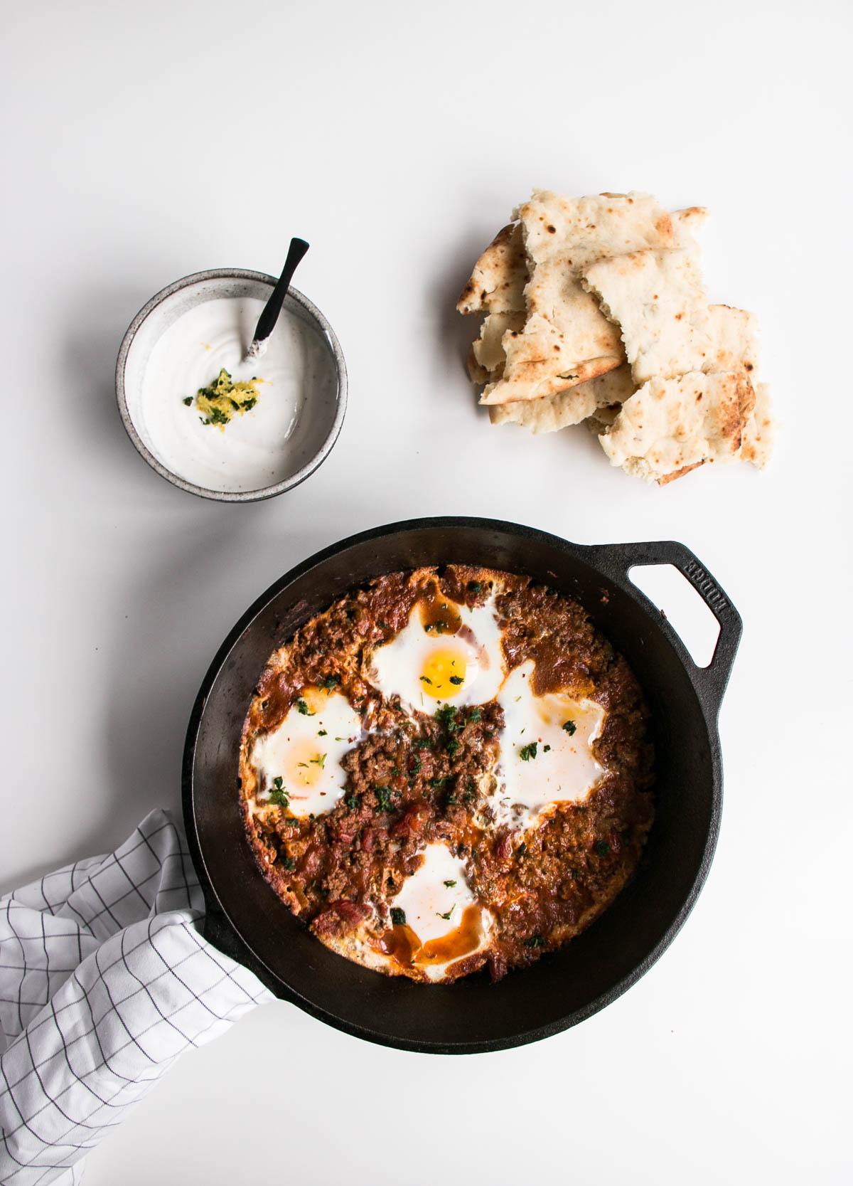 Iraqi Eggs With Lamb And Tomatoes My Kitchen Love