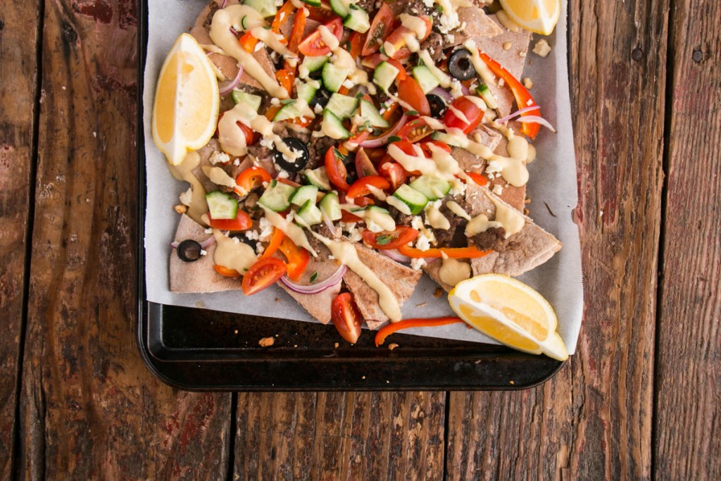 Loaded Greek Pita Nachos | My Kitchen Love
