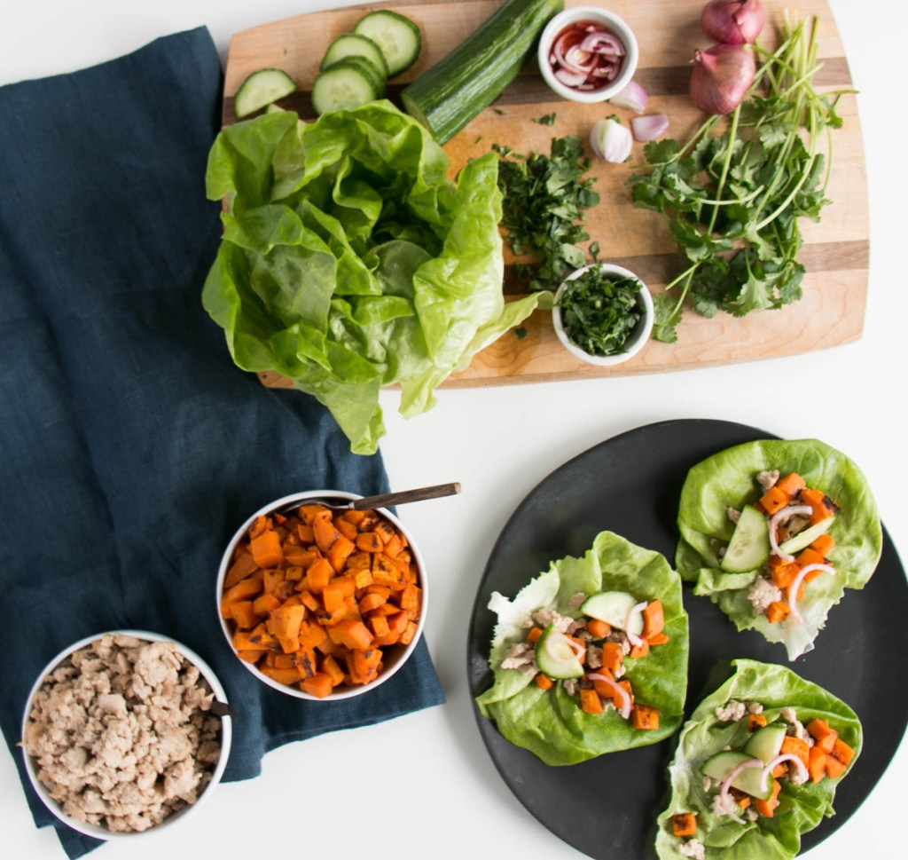 Sweet Potato Lettuce Wraps