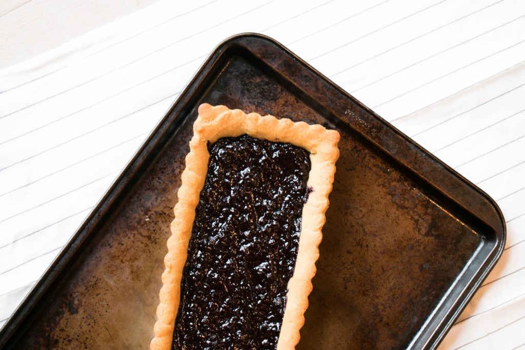 Peanut Butter Cookie, Jam and Chocolate Tart | My Kitchen Love