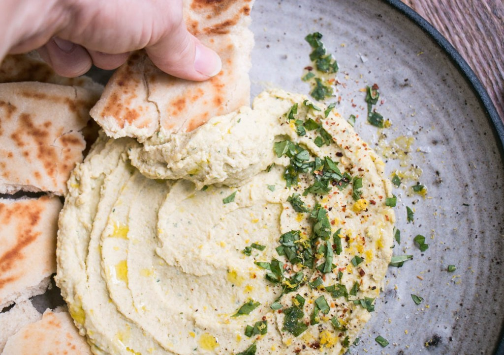 Lemon Basil Hummus | My Kitchen Love
