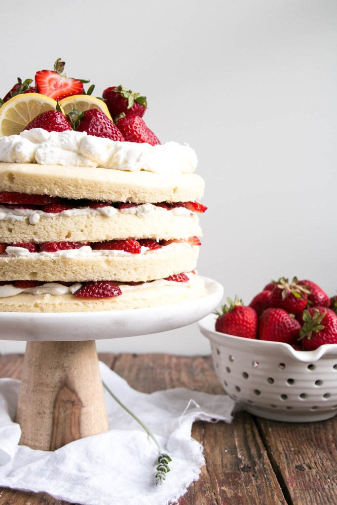 Strawberry Shortcake with Lavender Lemon Cream | My Kitchen Love
