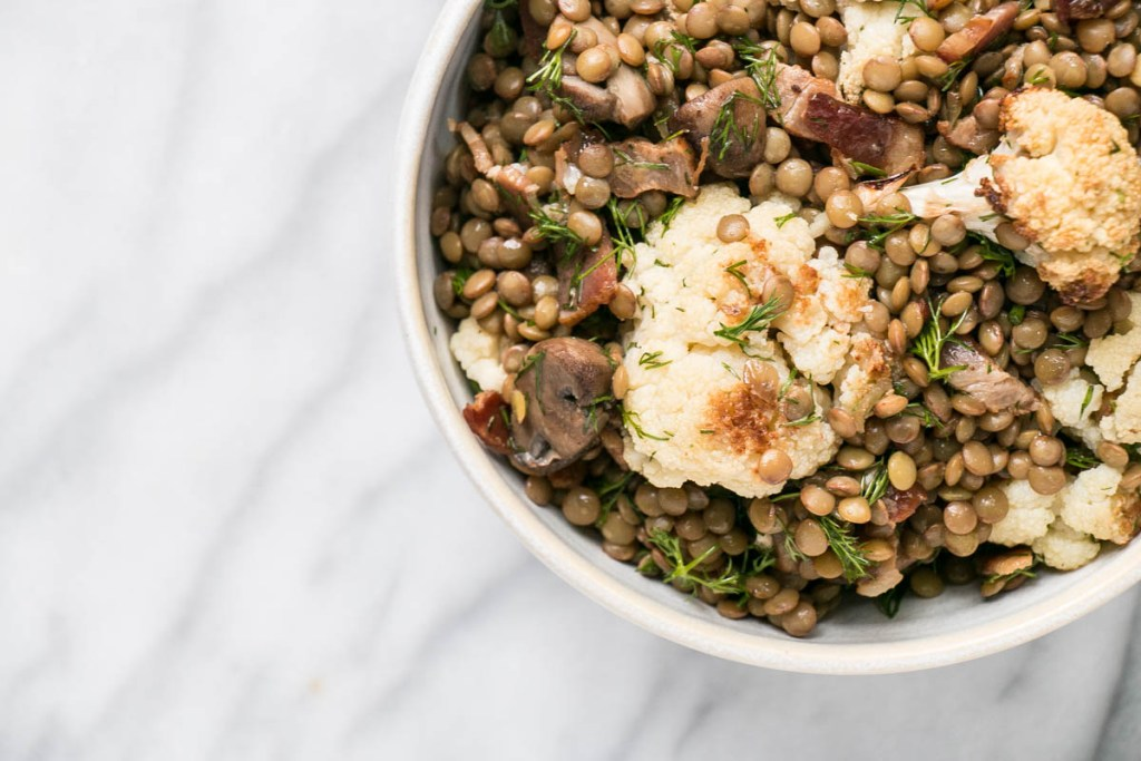 Lentil and Cauliflower Dill Salad