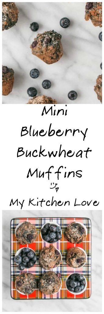 Mini Blueberry Buckwheat Muffins | My Kitchen Love