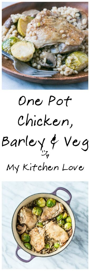 One Pot Chicken, Barley and Veg | My Kitchen Love