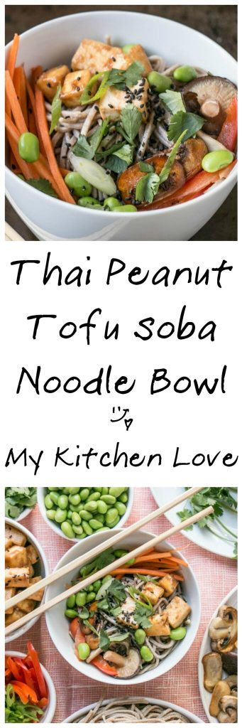 Peanut Tofu Noodle Bowl | My Kitchen Love